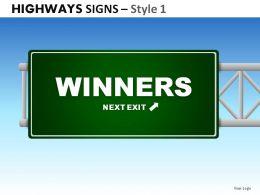 highway_signs_style_1_powerpoint_presentation_slides_Slide01