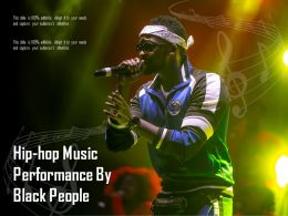 Hip Hop Music Performance By Black People