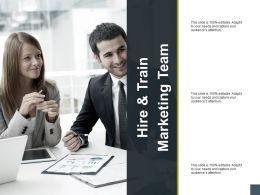 Hire And Train Marketing Team A177 Ppt Powerpoint Presentation Model Files
