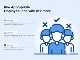 Hire Appropriate Employee Icon With Tick Mark