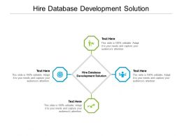 Hire Database Development Solution Ppt Powerpoint Presentation Outline Example Cpb