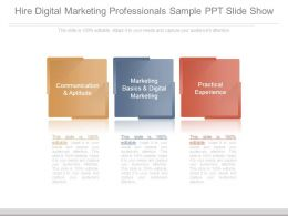 Hire Digital Marketing Professionals Sample Ppt Slide Show