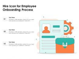 Hire Icon For Employee Onboarding Process