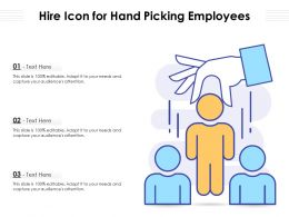 Hire Icon For Hand Picking Employees