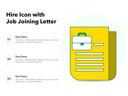 Hire Icon With Job Joining Letter