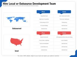 Hire Local Or Outsource Development Team Pros Ppt Powerpoint Model
