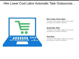 Hire Lower Cost Labor Automatic Task Outsources Customer Contact