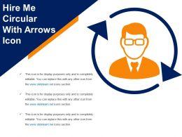 Hire Me Circular With Arrows Icon