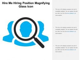 Hire Me Hiring Position Magnifying Glass Icon
