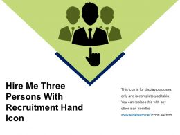 Hire Me Three Persons With Recruitment Hand Icon