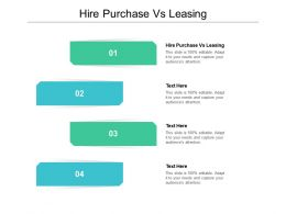 Hire Purchase Vs Leasing Ppt Powerpoint Presentation Professional Maker Cpb
