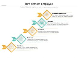 Hire Remote Employee Ppt Powerpoint Presentation Infographics Backgrounds Cpb