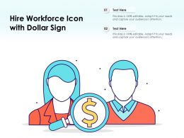 Hire Workforce Icon With Dollar Sign