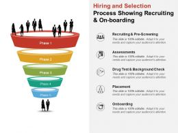 Hiring And Selection Process Showing Recruiting And On Boarding