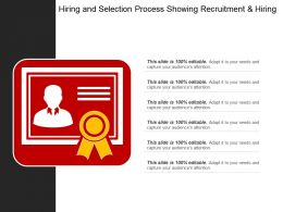 Hiring And Selection Process Showing Recruitment And Hiring