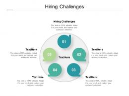 Hiring Challenges Ppt Powerpoint Presentation Infographics Grid Cpb