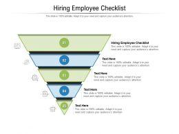 Hiring Employee Checklist Ppt Powerpoint Presentation Model Design Inspiration Cpb