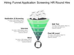 Hiring Funnel Application Screening Hr Round Hire