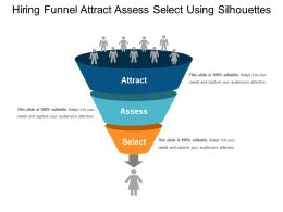 Hiring Funnel Attract Assess Select Using Silhouettes