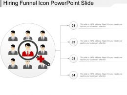 Hiring Funnel Icon Powerpoint Slide