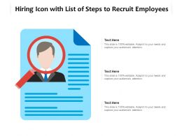 Hiring Icon With List Of Steps To Recruit Employees