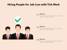 Hiring People For Job Icon With Tick Mark