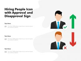 Hiring People Icon With Approval And Disapproval Sign
