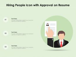 Hiring People Icon With Approval On Resume