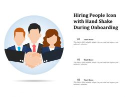 Hiring People Icon With Hand Shake During Onboarding