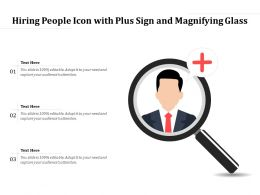 Hiring People Icon With Plus Sign And Magnifying Glass