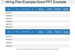 Hiring Plan Example Good Ppt Example