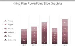 Hiring Plan Powerpoint Slide Graphics