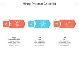 Hiring Process Checklist Ppt Powerpoint Presentation Professional Sample Cpb