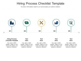 Hiring Process Checklist Template Ppt Powerpoint Presentation Background Cpb