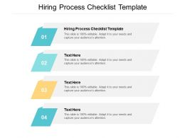 Hiring Process Checklist Template Ppt Powerpoint Presentation Pictures Infographic Template Cpb