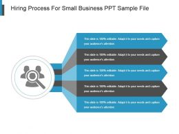 Hiring Process For Small Business Ppt Sample File