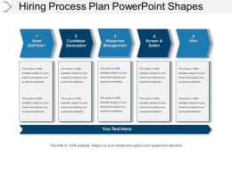 Hiring Process Plan Powerpoint Shapes