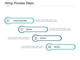 Hiring Process Steps Ppt Powerpoint Presentation Ideas Grid Cpb