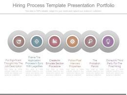 Hiring Process Template Presentation Portfolio