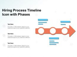 Hiring Process Timeline Icon With Phases