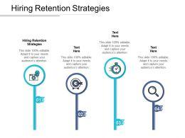 Hiring Retention Strategies Ppt Powerpoint Presentation Professional Cpb