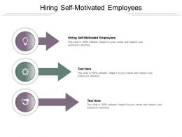 Hiring Self Motivated Employees Ppt Powerpoint Presentation Ideas Good Cpb