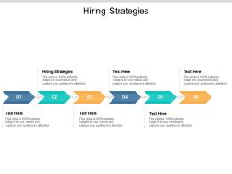 Hiring Strategies Ppt Powerpoint Presentation Styles Diagrams Cpb