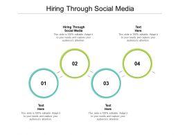 Hiring Through Social Media Ppt Powerpoint Presentation Show Example Cpb