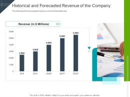 Historical And Forecasted Revenue Of The Company Raise Funding Short Term Bridge Financing