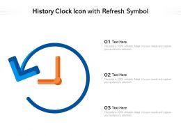 History Clock Icon With Refresh Symbol