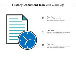History Document Icon With Clock Sign
