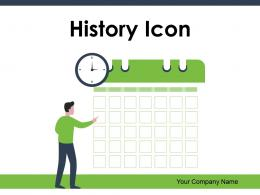 History Icon Knowledge Symbol Document Business Accomplishments Statement