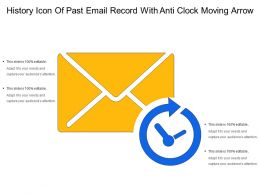History Icon Of Past Email Record With Anti Clock Moving Arrow
