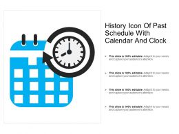 History Icon Of Past Schedule With Calendar And Clock